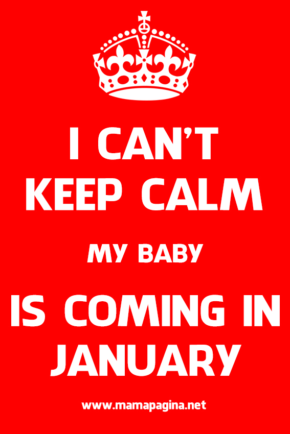 I Can't Keep Calm, My Baby Is Coming In January