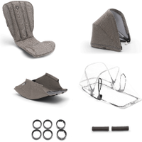 Bugaboo Bee 5 style set compleet Bugaboo mineral taupe gemêleerd